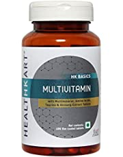 HealthKart Multivitamin with Ginseng Extract, Taurine and Multiminerals (Multivitamin, 60 capsules)