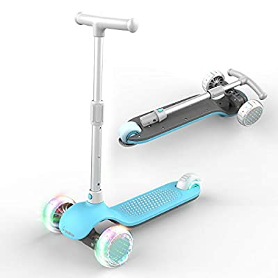 MiniBoss 3-Wheeled Scooter for Kids, Kick Scooter for Kids, Kids Scooter, Three Wheel Scooter with Adjustable Height Scooter PU Flashing Wheels Wide Deck for Kids Toddlers Boys Girls from 3 to 6