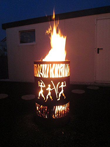 Tiko-Metalldesign Feuertonne/Feuerkorb mit Motv Afrika