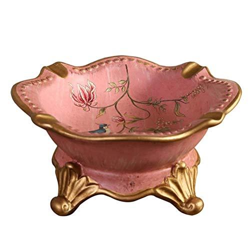 LALAWO Voor Sigaret of Sigaret Keramische asbak Amerikaanse gouden lijn schets ambachten roze home decoraties thuis Koffietafel salontafel decoratie