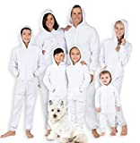 Joggies - Family Matching White Suger Hoodie Onesies for Boys, Girls, Men, Women and Pets - Adult - Small2X/Dbl Wide (Fits 5'3 - 5'6')