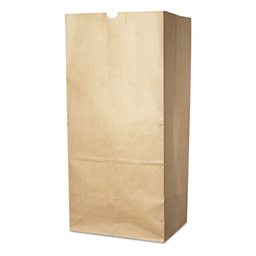 Duro Bag 13818 Lawn/leaf Self-Standing Bags, 30 Gal, 16 X 12 X 35, Kraft Brown, 50/carton