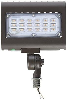 "Morris 30W 3000K LED Flat Panel Flood Light with 1/2"" Adjustable Knuckle Mount"