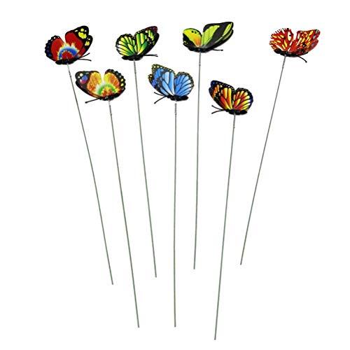 Enfeites decorativos de animais voadores de borboleta para jardim da YeahiBaby Garden 12 peças (cor aleatória)