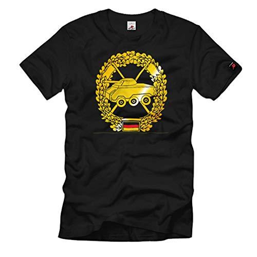 Barettabzeichen Panzeraufklärer Pz Bundeswehr Einheit Emblem - T Shirt #1095, Größe:5XL, Farbe:Schwarz