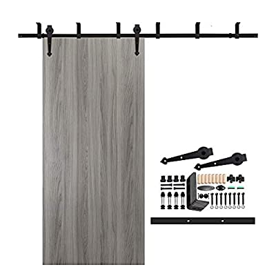 CCJH Country Classic Steel Interior Single Sliding Barn Door Hardware Kit Y Style