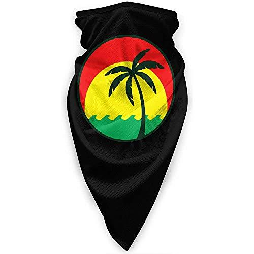 Not Applicable Sport Gaiter,Palmen In Jamaika Schal Stirnband, Weiches Stirnband Für Motorradfahren Skifischen,24x52cm