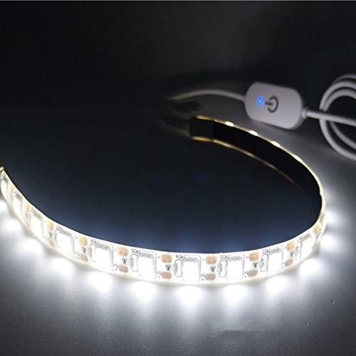 Uonlytech Luz LED para máquina de costura de 2 metros, fita de LED com corda de luz USB, fita adesiva flexível natural, adequada para todas as TVs de costura ou bar