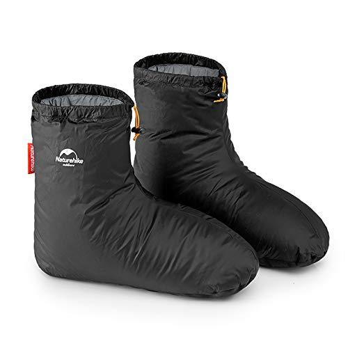 Naturehike Outdoor/Innen wasserdichte Winter Gänsedaunen Socken für Schlafzimmer Büro, rutschfeste Super Warm Booties Daunenschuh zum Skifahren Snowboarden Radfahren(S)