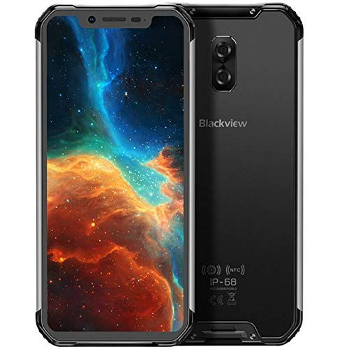 (2019) Blackview BV9600 4G Smartphone Libre Resistente, Android 9.0 móvil Todoterreno IP68 antigolpes, Helio P70 4GB + 64GB, 6.21'' FHD + AMOLED, Dual SIM, NFC, 16MP + 8MP, Carga inalámbrica Plata