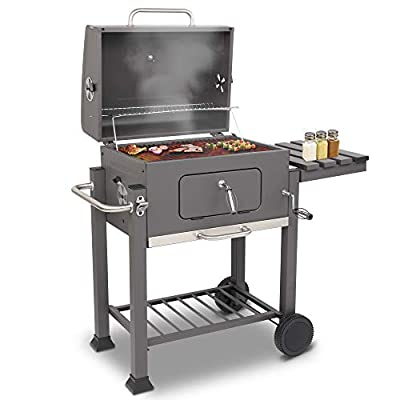 """onEveryBaby 23"""" BBQ Charcoal Grill,Square O..."""
