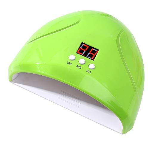 Lámpara LED de uñas de gel de 36 W, lámpara de secado con 12 cuentas LED/sensor/3 temporizadores (30s, 60 y 90 A) para esmalte de uñas de gel UV