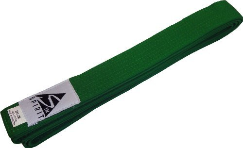 Martial Arts Green Belt For Kids Judo Karate JuJitsu Taekwondo 240cm by Spirit Sports
