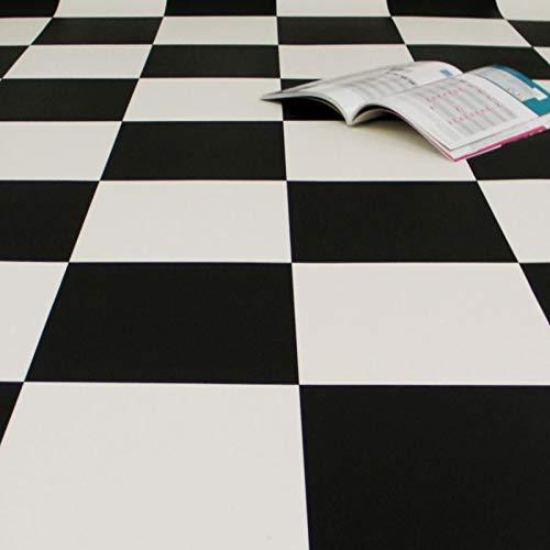 PVC Bodenbelag Schachbrett Schwarz Weiss Groß (Muster DIN A4)