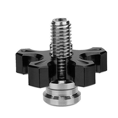 Motorrad Kupplungszug Versteller Kupplung Bremshebel Schraube, Motorrad Universal CNC Aluminium gefräste Kupplungsseil Einstellschraube(black)