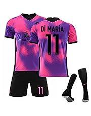 Weqenqing 2021 Parijs Weg, Nr. 11 Voetbaluniform Pak Roze Paars Voetbaluniform Pak Volwassen En Kinderen Sport Trainingsjack Korte Broek En Sokken
