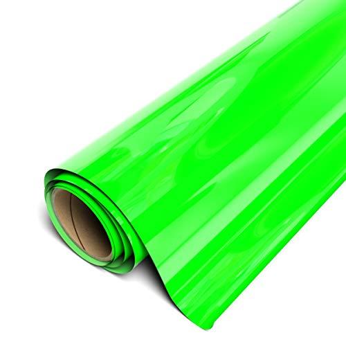 """Siser EasyWeed HTV 11.8"""" x 3ft Roll - Iron on Heat Transfer Vinyl (Fluorescent Green)"""