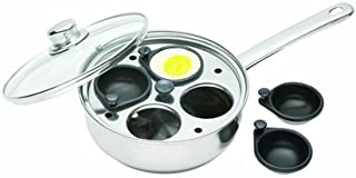 Kitchencraft Non-stick Induction-safe 4-cup Egg Poacher