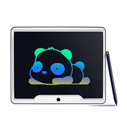Funkprofi Bunte 15 Zoll LCD Schreibtafel, Digitale Schreibplatte Papierlos Elektronisches Writing Tablet mit Anti-Clearance Funktion Geschenk für Kinder (15 Inch Bunt)