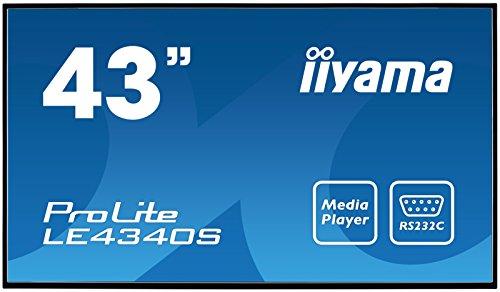 "iiyama ProLite LE4340S-B1 108cm (43\"") Info-Display AMVA Panel Full-HD (VGA, DVI, HDMI, USB2.0, RJ45, RS-232c) USB Mediaplayer, 12/7, schwarz"