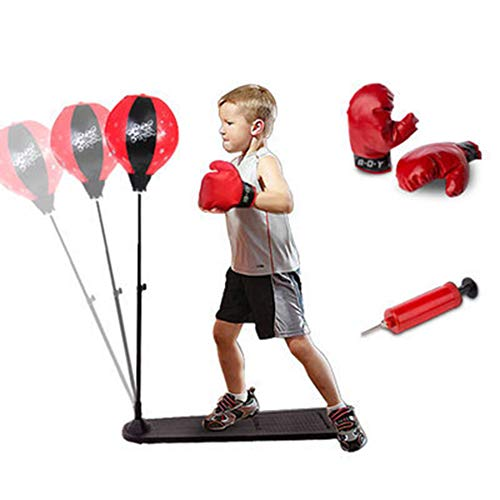 GZYM Kinder Box-Set Boxsack Höhenverstellbarer Sport Boxen Boxsack mit Handschuhen Freies Standboxball für Kinder