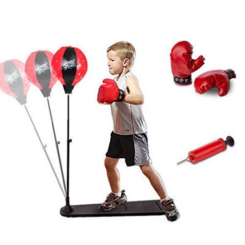 GZYM Niños Boxeo Conjunto Saco de Altura Ajustable Deporte
