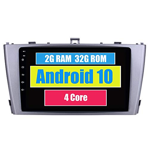 RoverOne Autoradio GPS für Toyota Avensis 2009 2010 2011 2012 2013 mit Android Multimedia-Player Navigation Radio Stereo Touchscreen Bluetooth WiFi USB Mirror Link