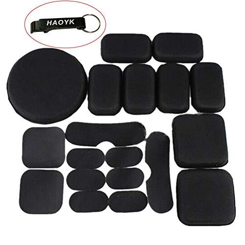 haoyk memoria negro EVA espuma Airsoft t�ctico casco protector Pad Cojines