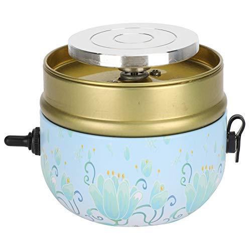 Máquina de Rueda de cerámica, Mini máquina de Bricolaje de cerámica eléctrica, máquina formadora de cerámica de Velocidad Ajustable portátil con Bandeja para niños y Adultos(EU)