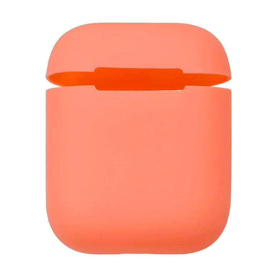 金曜日熟達した君主ラスタバナナ Air Pods ケース/カバー ソフト シリコン 薄型設計 オレンジ エアポッズ イヤホンケース 4706AIRP16SI