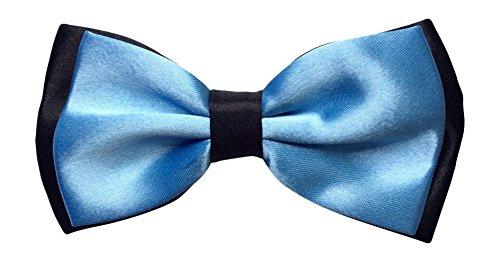 En satin-homme-bleu/noir-cadre réglable de pie (sky blue & noir)