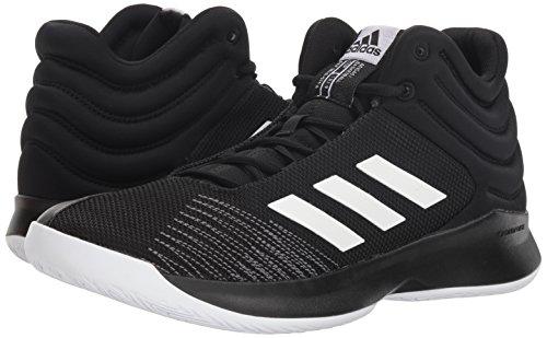 adidas Men's Pro Spark 2018 Basketball Shoe, Black/White/Grey, 12 M US