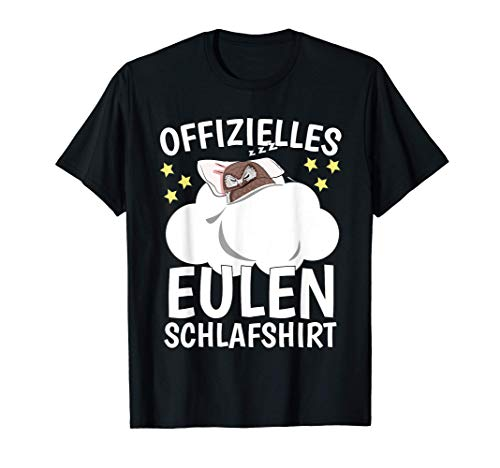 Offizielles Eule Schlafshirt Schlafoberteil Eule T-Shirt
