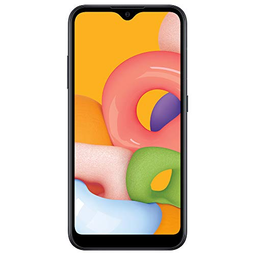 TracFone Samsung Galaxy A01 4G LTE Prepaid Smartphone - Black - 16GB - Sim Card Included - CDMA - Frustration Free Packaging