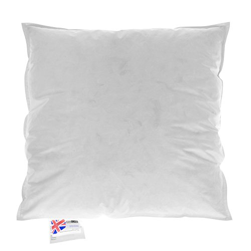 """HOMESCAPES Duck Feather Cushion Pad 65 x 65 cm (26"""" x 26"""") Inner Insert Filler with 100% Cotton Down Proof Cover Hypoallergenic RDS Certified Machine Washable"""