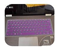 for Lenovoヨガ530 530s 530 14ikbヨガ730730s 530のシリコーンラップトップキーボードカバープロテクター-purple-