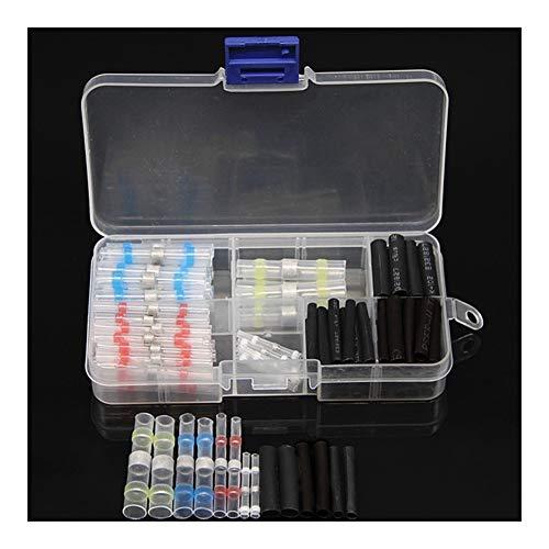 WFBD-CN Batterieklemmen wasserdichte Wärmeschrumpfende Klemme, 50PCS Wärmeschrumpfende wasserdicht Lotrings + 60PCS Schrumpfschlauch Boxed Set
