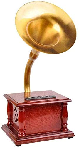 QAZWSXE Record Players,Retro Style Portable Version Gramophone High Performance and Quality Movement But Also The Best Gift (Size:202165425mm)