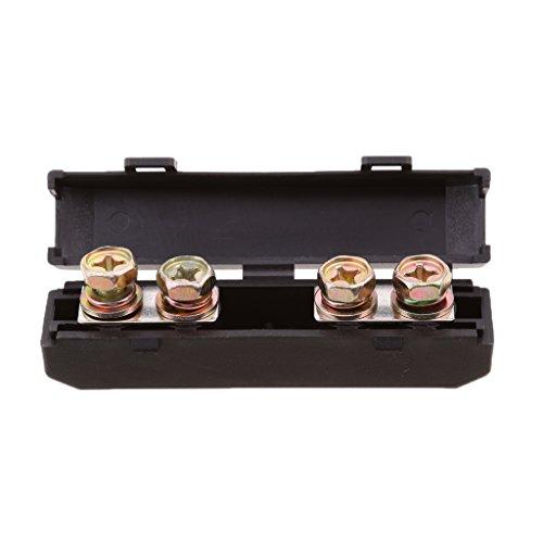 IPOTCH Caja Impermeable del Bloque del Fusebox del Perno del Soporte del Fusible del Anf Y del Automóvil
