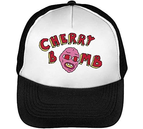 BakoIsland Cherry Bomb Trucker Cap Herren Damen Schwarz weiß Snapback