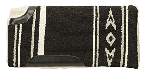 "Weaver Leather Fleece Lined Acrylic Cut Back Saddle Pad, 30"" x 32"", Black/Gray"