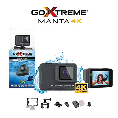 GoXtreme 'Manta' 4K Action Cam mit Webcam-Funktion, 170° Weitwinkel, 10 m wasserfest