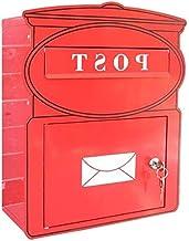 FSFF Waterdichte vergrendeling muur mount brievenbus, groene brievenbus, postbus rood, decoratieve muur gegalvaniseerde pl...