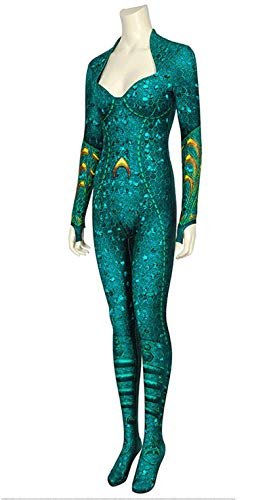 CXYGZLJ Rendimiento de Mujer Jumpsuit Onesies, DC Justice League Aquaman Wife Mela Leotard Stretch Bodysuit Adult Deluxe Disfraz,XXL 185~190cm