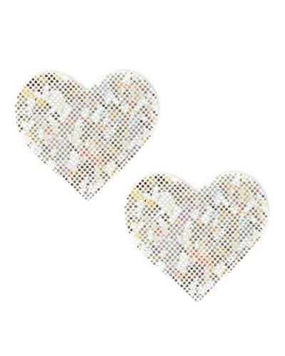 iHeartRaves Rave Pasties - Brustbedeckungen für Dessous, Outfits - Silber - Einheitsgröße