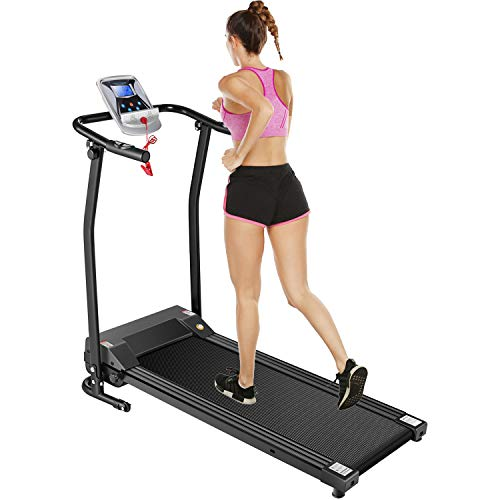 Fitness Folding Treadmills Electric Support Motorized Power Jogging Walking Running Machine Trainer Equipment for Home Gym Office Easy Assembly (Black) Treadmills
