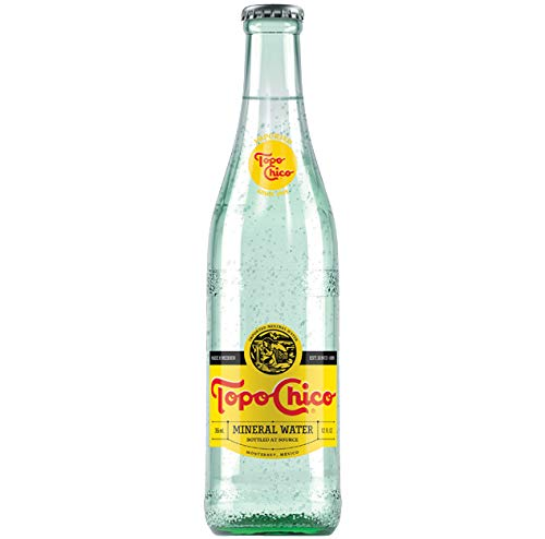 Topo Chico - Carbonated Natural Mineral Water - 12 fl oz (355mL) (12 Glass Bottles)