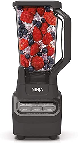 NINJA 1000 Watts Blender NJ600, Silver/Black, 72 Oz (Renewed)