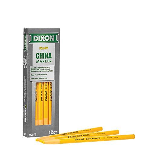 Dixon 00073 China Markers, Yellow, 12-Pack