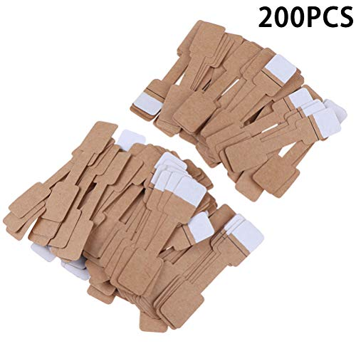 23x13mm SUPVOX 500pcs White price tags strung marking tags jewelry tags labels with string attached for clothes clothing jewelry rings